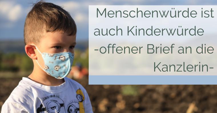 Menschenwürde ist auch Kinderwürde – offener Brief an die Bundeskanzlerin